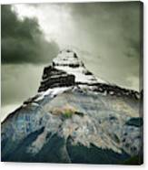 A Peak Of A Mountain Top In The Rocky Canvas Print