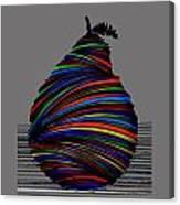 A Pear 2004 Grey Canvas Print