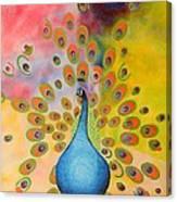 A Peculiar Peacock Canvas Print