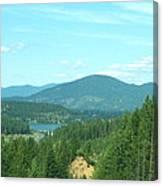 A Peek At Lake Coer D'alene  Canvas Print