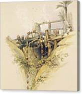 A Persian Water Wheel, Used In Raising Canvas Print