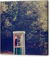 A Phone In A Booth? Canvas Print