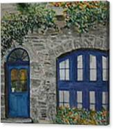 A Picturesque Corner Of France Canvas Print