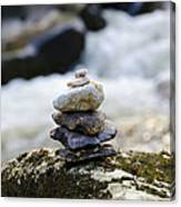 A Pile Of Stones Canvas Print