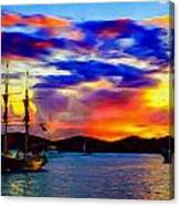 A Pirate's Sunset Canvas Print