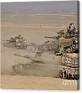 A Platoon Of Israel Defense Force Canvas Print