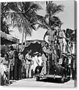 A Portable Jazz Band In Miami Canvas Print
