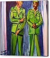 Daddy Soldier Canvas Print
