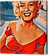 A Portrait Of Marilyn Canvas Print