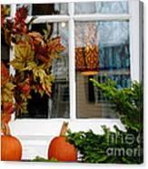 A Pretty Autumn Window Canvas Print
