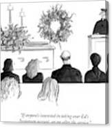 A Priest Makes A Eulogy Canvas Print