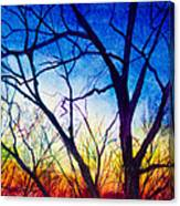 A Primary Sunset Canvas Print