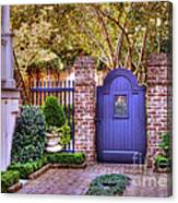 A Private Garden In Charleston Canvas Print