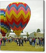 Albany Oregon Art And Air Show Hot Air Balloon Lift Off Canvas Print