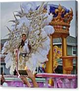 A Queen Of Carnival During Mardi Gras 2013 Canvas Print