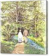 A Quiet Walk Canvas Print