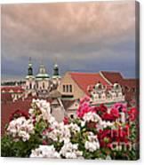 A Rainy Day In Prague 2 Canvas Print