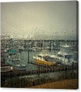 A Rainy Evening On The Port Canvas Print