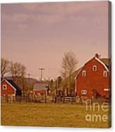 A Red Barn  Canvas Print