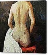 A Red Chair Canvas Print