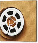 A Reel, Or Spool, Of 8mm Movie Film Canvas Print