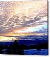 A Remarkable Winter Evening Canvas Print