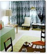 A Retro Bedroom Canvas Print