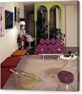 A Retro Living Room Canvas Print