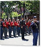 A Revolutionary Battalion Marching In The St. Patrick Old Cathedral Parade Canvas Print