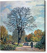 A Road In Seine-et-marne, 1878 Canvas Print