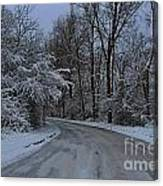 A Road In Winter. Canvas Print