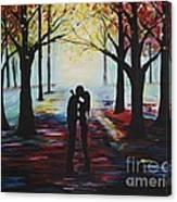 A Romantic Kiss Canvas Print