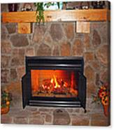 A Room With A Fireplace Canvas Print