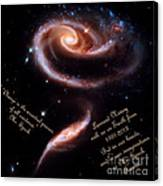 A Rose Made Of Galaxies For Spock Canvas Print