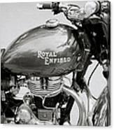 A Royal Enfield Motorbike Canvas Print