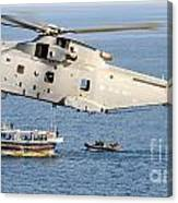 A Royal Navy Merlin Helicopter  Canvas Print