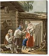 A Russian Peasant Family, 1823 Canvas Print