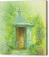 A Seat In The Summerhouse Canvas Print