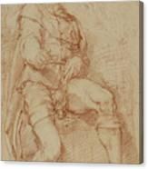 A Seated Man Bernardino Poccetti Barbatelli Canvas Print