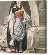 A Serving Girl At An Inn Canvas Print
