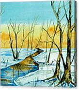 A Sign Of Winter Canvas Print