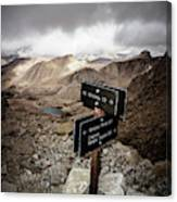 A Signed Trail Junction On The Way Canvas Print