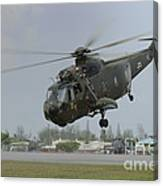A Sikorsky S-61a4 Helicopter Canvas Print