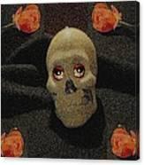 A Skull In The Dark Pop Art Canvas Print