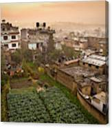 A Skyline View Of Roof Tops Canvas Print