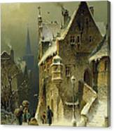 A Small Town In The Rhine Canvas Print