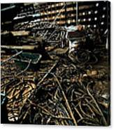 A Snake Pit Of Wires Canvas Print