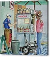 A Snocone For A Child In San Juan Pr Canvas Print
