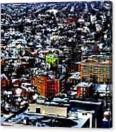 A Snowy City...buffalo Ny 2013 Canvas Print