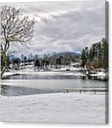A Snowy Day On Lake Chatuge Canvas Print